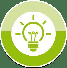 Grafik Glühbirnen-Symbol