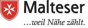 """Logo der Malteser mit dem Slogan """"...weil Nähe zählt"""""""