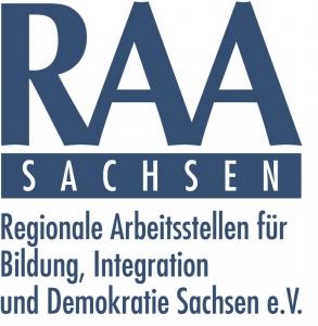 Logo RAA Sachsen - Regionale Arbeiststellen für Bildung, Integration und Demokratie Sachsen e.V.