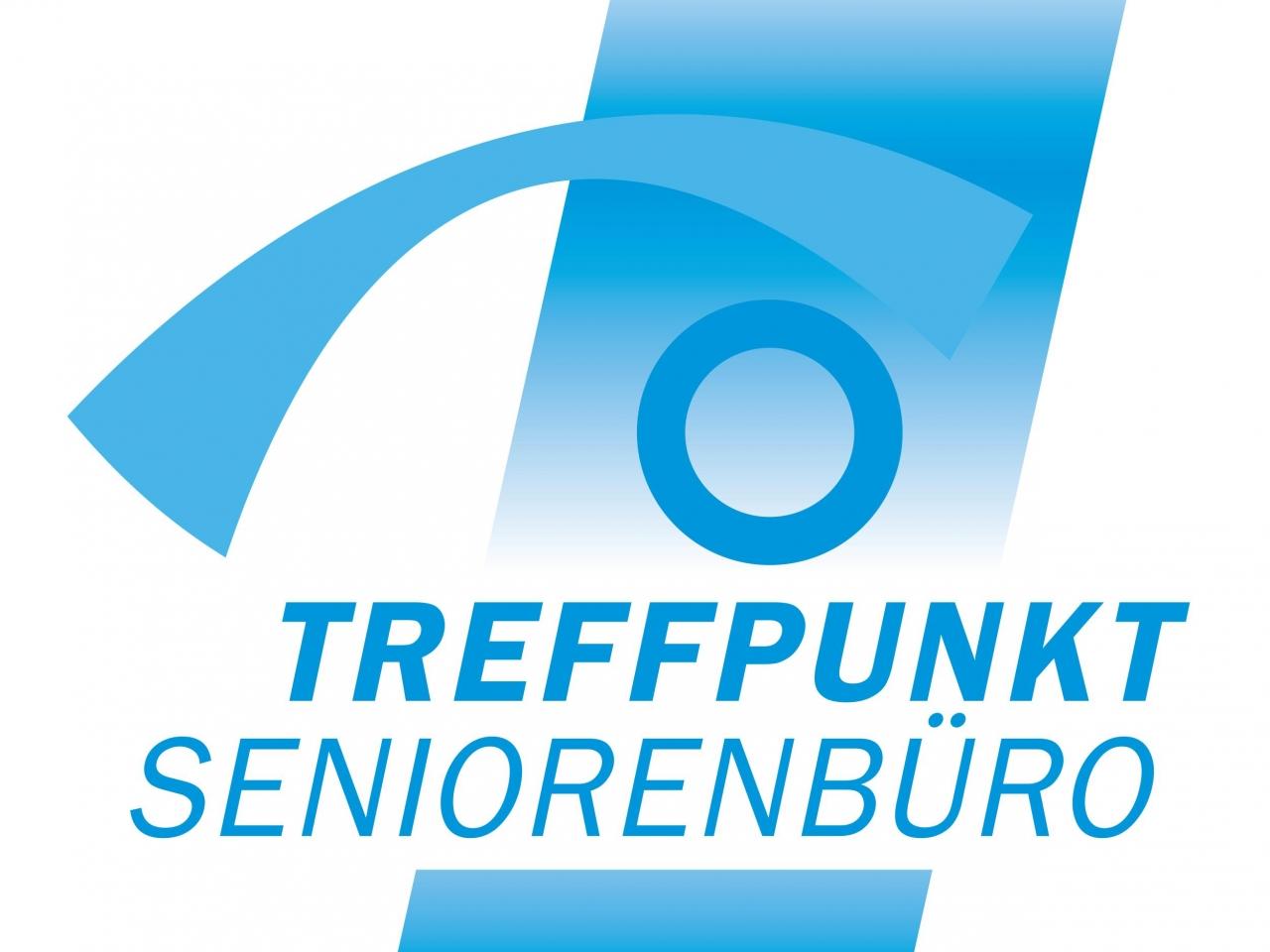 Man sieht das Logo des Treffpunkt Seniorenbüro.