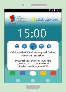 Ankündigung des Projektes auf der Homepage Kreisvolkshochschule Norden gGmbH