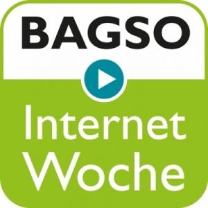 Das Logo der BAGSO InternetWoche.