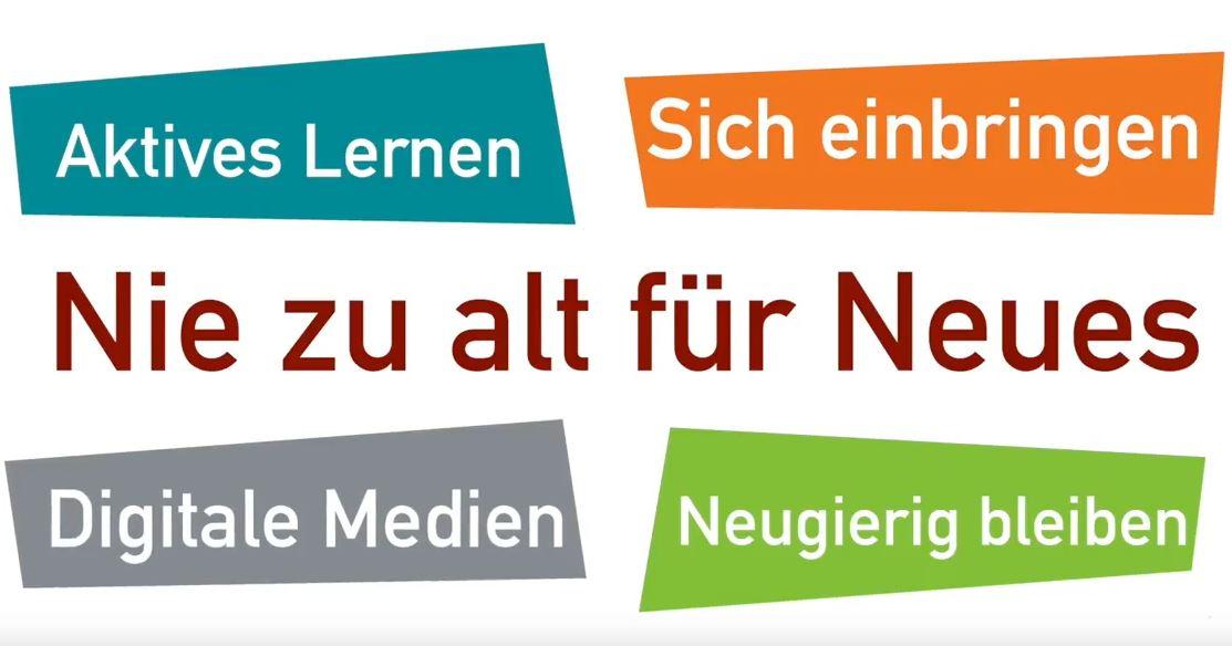 """Grafik """"Nie zu alt für Neues"""""""