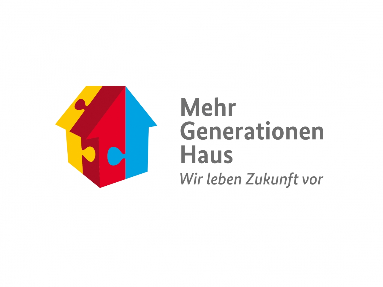 Logo Mehrgenerationenhaus mit dem Slogan Wir leben Zukunft vor