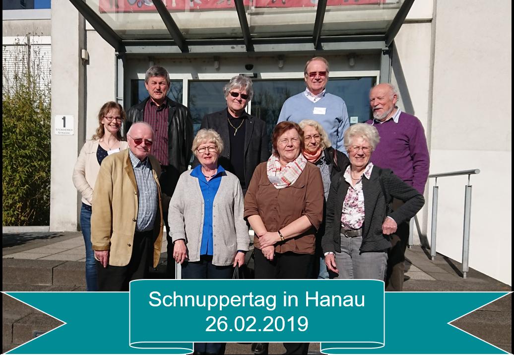 Gruppenfoto der Teilnehmenden des Schnuppertages in Hanau