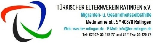 Logo des Türkischen Elternvereins in RAtingen