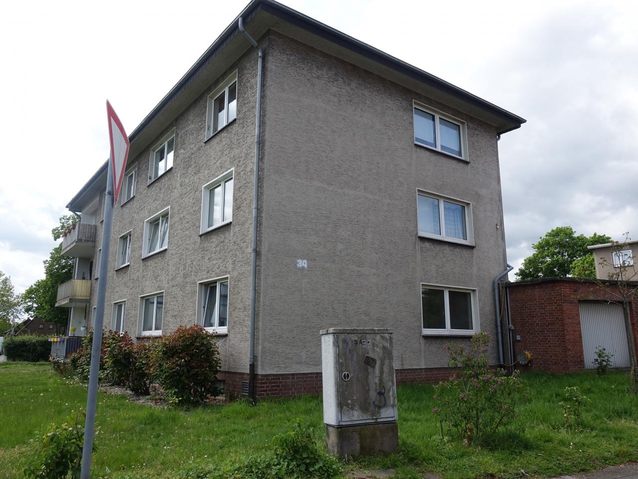 Das Bild zeigt ein Wohnhaus in Moers Repelen