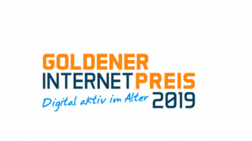 Hier sieht man das Logo des Goldenen Internetpreises