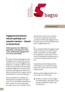 Erste Seite der BAGSO-Stellungnahme