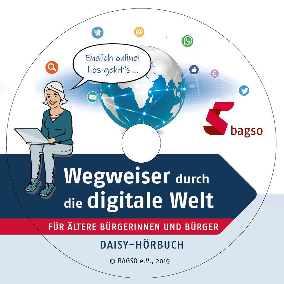 """CD-Coverbild der Daisy-Hörversion des """"Wegweisers durch die digitale Welt"""""""