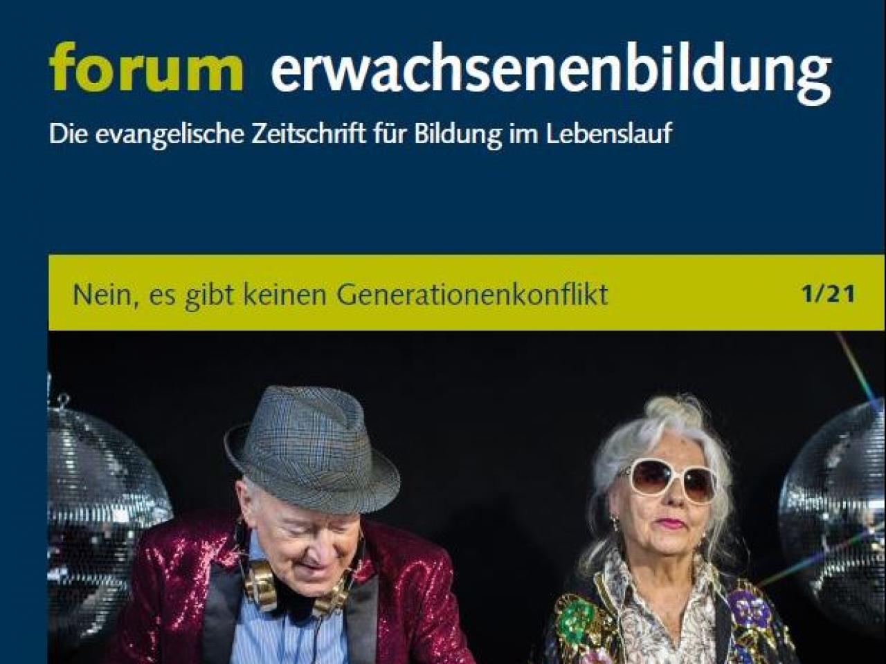 Cover der Ausgabe 1/2021 der Zeitschrift forum Erwachsenenbildung