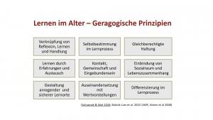 Folie mit 9 geragogischen Prinzipien